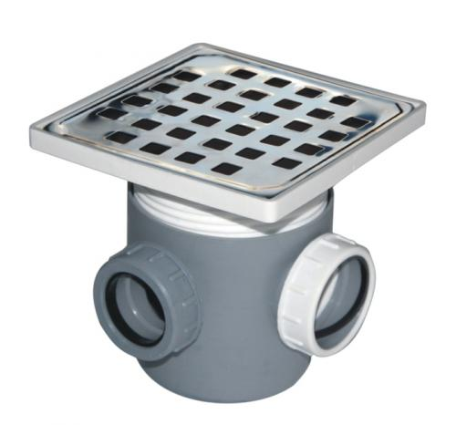 Sifon inox pardoseala 15x15 1 intrare H 100 mm 1019000027