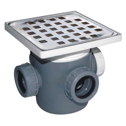Sifon inox pardoseala 15 x 15 3 intrari H 100 mm 1019000015