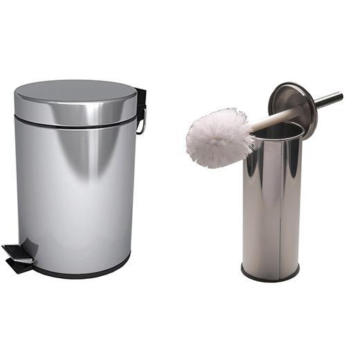 Set cos gunoi 3 L cu perie WC din inox 1034000021