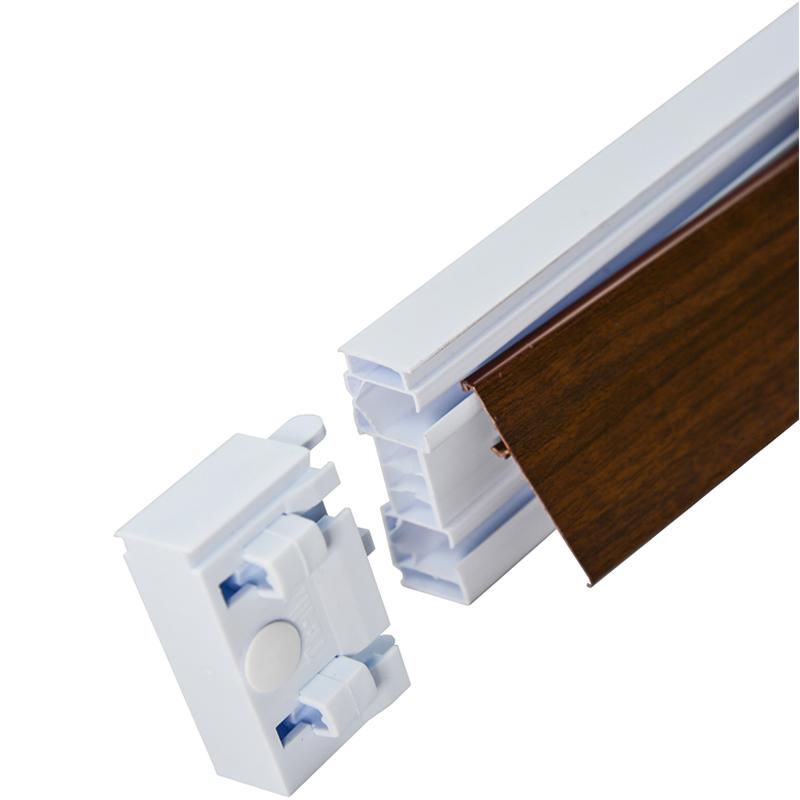 Set sina de perdea TE-MA 2 canale cu plinta Wenge - accesorii incluse 8007000062